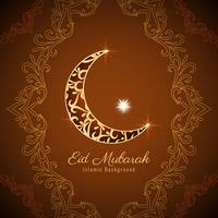 Resumo Eid Mubarak elegante design de plano de fundo
