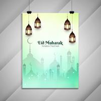 Resumo Eid Mubarak design de folheto decorativo