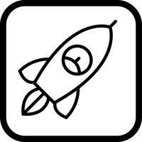 Design de ícone de foguete
