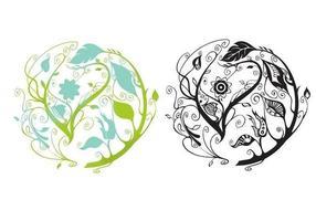 Pacote de vetores de círculos florais