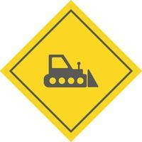 Design de ícone de escavadora vetor