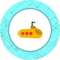 Design de ícone submarino vetor