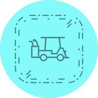 Design de ícone de carrinho de golfe
