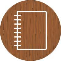 Desenho de ícone de caderno espiral vetor