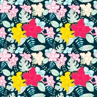 flor sem costura padrão, padrão floral