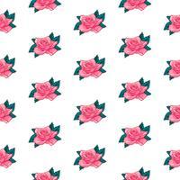flor rosa padrão sem emenda, vetor floral rosa padrão sem emenda, fundo da flor