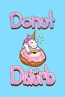 citações bonitos do unicórnio e dos donuts vetor