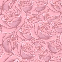 O teste padrão sem emenda de Rosa, teste padrão sem emenda da flor, vector o teste padrão sem emenda floral, fundo da flor, textura cor-de-rosa. adequado para impressão de têxteis