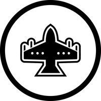Projeto de ícone de jato de caça