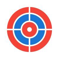 Design de ícone de alvo vetor