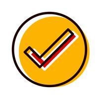 Design de ícone válido vetor