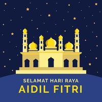 Vetor de Selamat Hari Raya Aidil Fitri