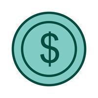 Design de ícone de moeda de dólares vetor