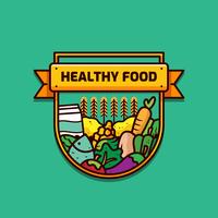Vetor de comida saudável