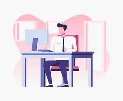 Ilustração de escritório vetor