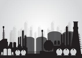 Planta química industrial esperta, ilustração vetorial