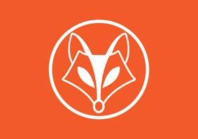 Imagem do vetor de um projeto da raposa, ilustração do vetor. Animal Logo.