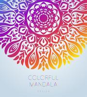 Vector ornamental mandala inspirada arte étnica, modelado indiano paisley. Mão ilustrações desenhadas Elemento do convite. Tatuagem, astrologia, alquimia, boho e símbolo mágico.