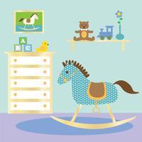 berçário do bebê com cavalo de balanço