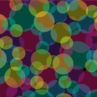 Resumo de sobreposição de círculos transparentes padrão em fundo preto