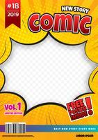 design de modelo de página de quadrinhos. Capa de revista