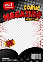design de modelo de página de quadrinhos. Capa de revista vetor