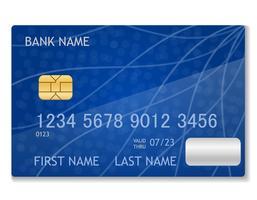 ilustração em vetor estoque cartão bancário