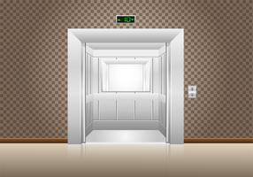 portas de elevador abertas vetor