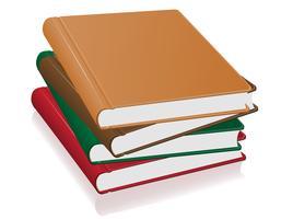 ilustração de vetor de pilha de livros