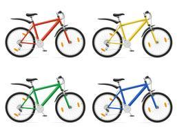 bicicletas de montanha com ilustração em vetor deslocamento de engrenagem