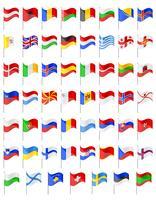 bandeiras de ilustração vetorial de países europeus vetor
