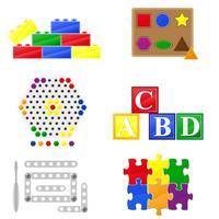 ícones brinquedos educativos para crianças