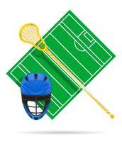 ilustração em vetor campo lacrosse