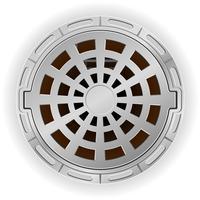 poço de esgoto fechado com uma ilustração em vetor hachura