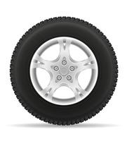pneu de roda de carro da ilustração vetorial de disco vetor