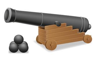 ilustração em vetor antigo canhão