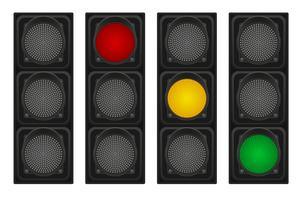 semáforos para ilustração vetorial de carros