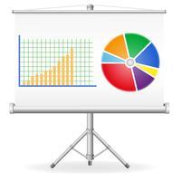 ilustração em vetor negócios gráficos conceito