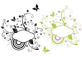 Pacote de banner de vetores florais modernos