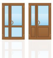 ilustração de vetor de portas de plástico marrom transparente
