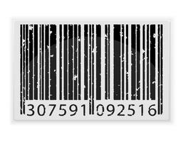 ilustração abstrata do vetor de código de barras