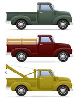 ilustração em vetor retrô velho carro coletor