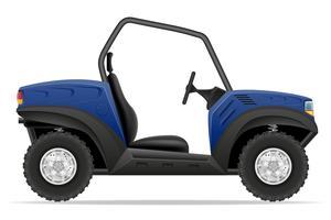 atv carro buggy fora ilustração vetorial de estradas vetor