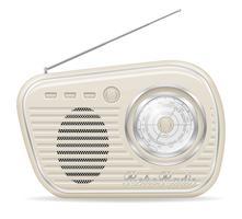 ilustração em vetor estoque rádio velho retro vintage ícone