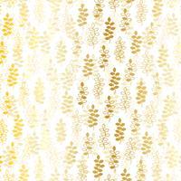 padrão de folha de ouro branco vetor