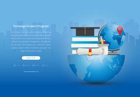 Projetos Educacionais Estudantis de Intercâmbio Internacional vetor