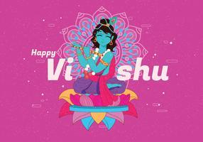 vetor de festival vishu