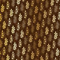 padrão de folha de ouro em brown vetor