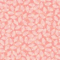 folha padrão em rosa vetor