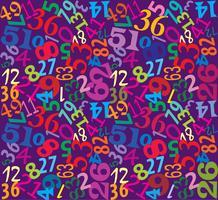 Fundo multicolor sem costura de números